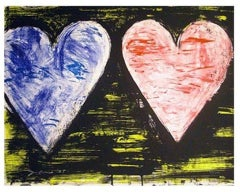 Two Hearts at Sunset, Jim Dine