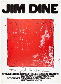 Vintage Jim Dine poster Red Bandana Staatliche Kunsthalle Baden-Baden, Americana
