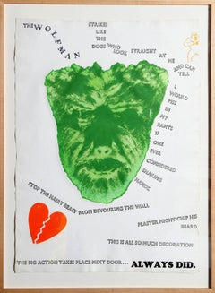 Wolfman, Pop Art etching by Jim Dine 1967