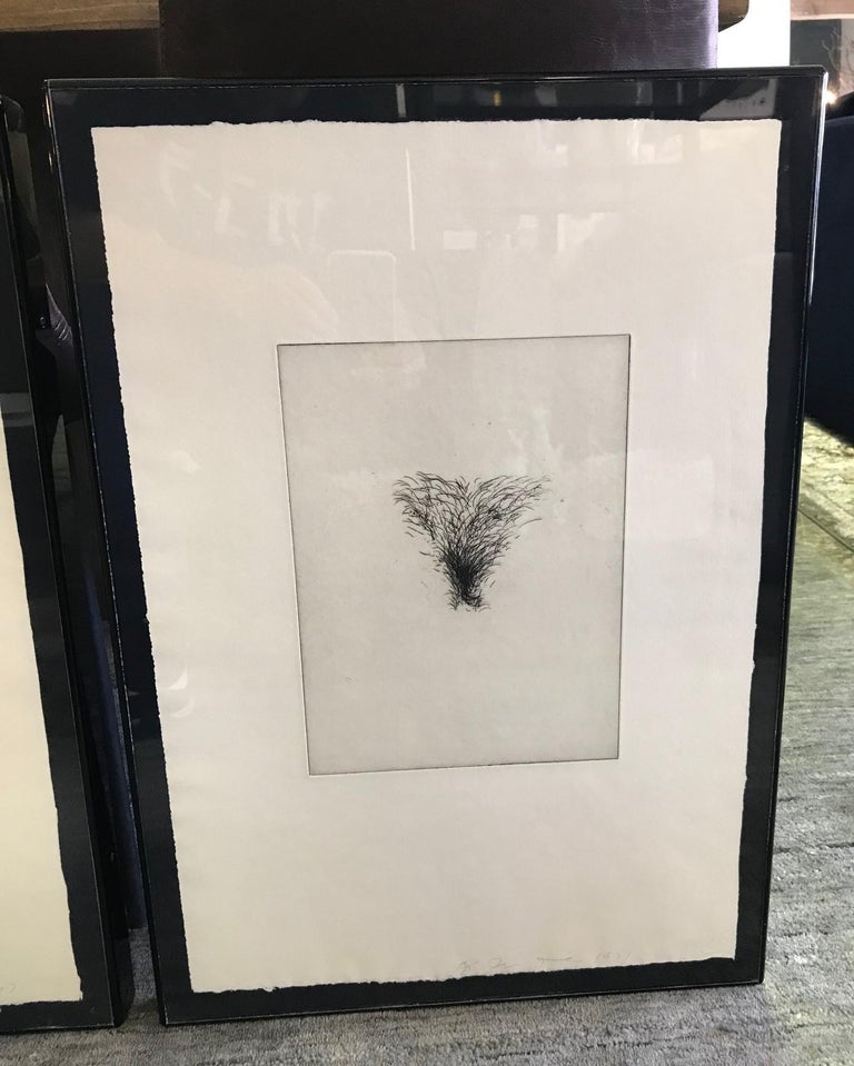 Etched Jim Dine Signed Set of Four Pop Art Etchings