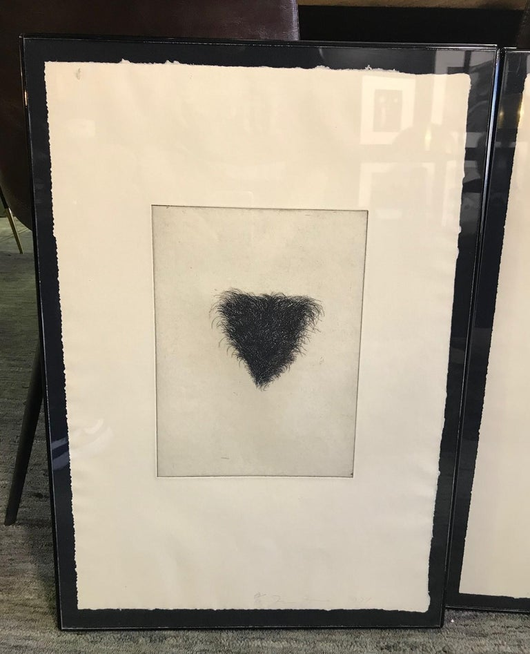 Jim Dine Signed Set of Four Pop Art Etchings
