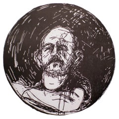 """Jim Dine, Untitled, from """"Self-Portrait in a Convex Mirror"""""""
