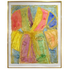 "Jim Dine ""Yellow Watercolors"" Woodcut and Watercolor 1993 'Signed'"