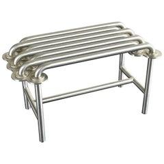 Jim Drain Unique Prototype Contemporary Bench, Stainless Steel, Aluminium, 2000s
