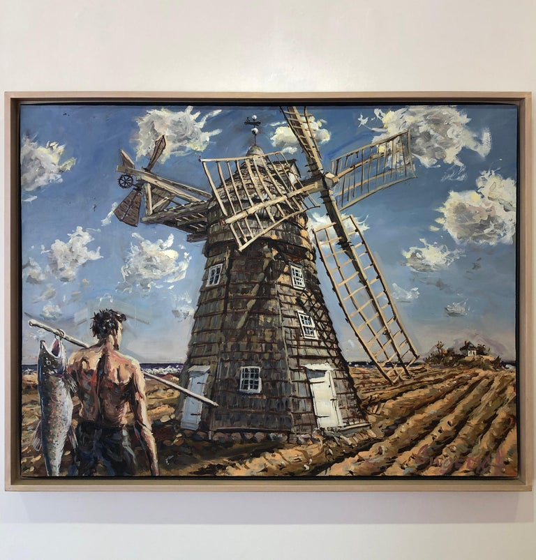 Windmill - Painting by Jim Gingerich