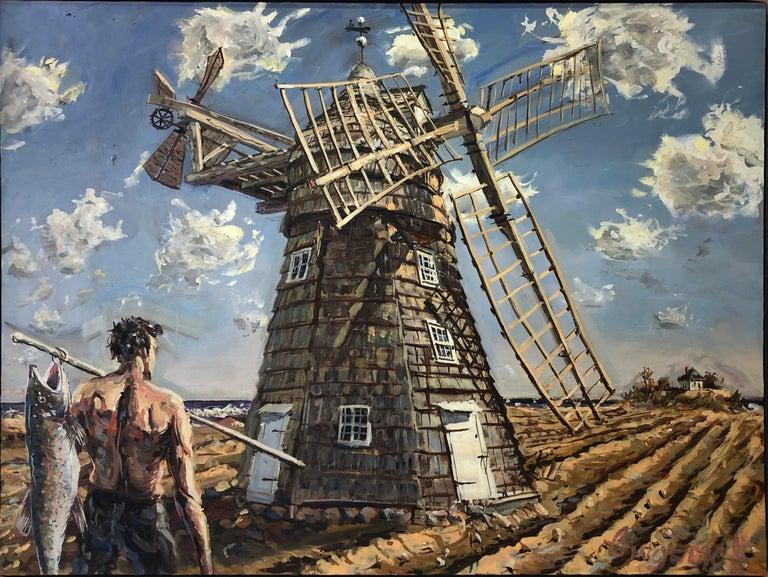 Jim Gingerich Landscape Painting - Windmill