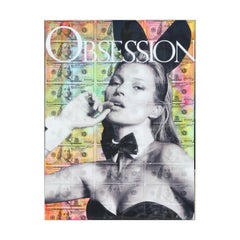Kate Moss Playboy Model Obsession Mixed Media Contemporary Collage