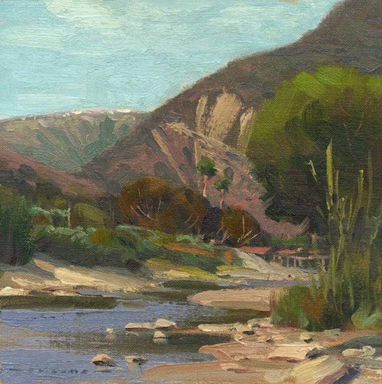 Jim Lamb Landscape Painting - Afternoon on Aliso Creek