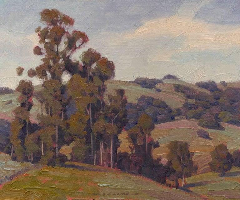 Jim Lamb Landscape Painting - Eucalyptus & Oaks