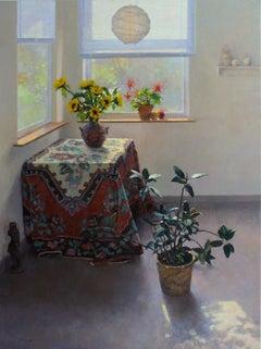 Sunlit Studio with Sunflowers