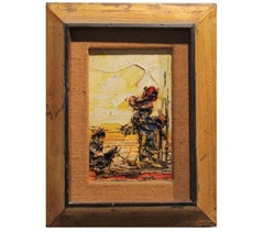 Yellow Toned Small Scale Textured Landscape