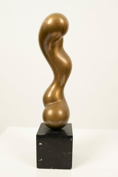 Figural Abstract Bronze Sculpture James Ritchie French Canadian Modernist