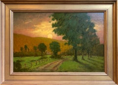 Country Road at Sunset, original impressionist landscape