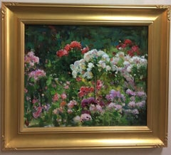 In the Garden, original contemporary impressionist landscape