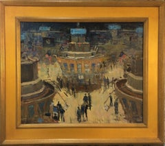 Market Makers, New York Stock Exchange, original impressionist landscape
