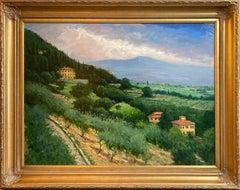 Massa in June, Tuscany, original 30x40 Italian impressionist landscape