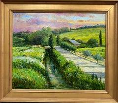 Morning Light in Chateauneuf du Pape, original French impressionist landscape