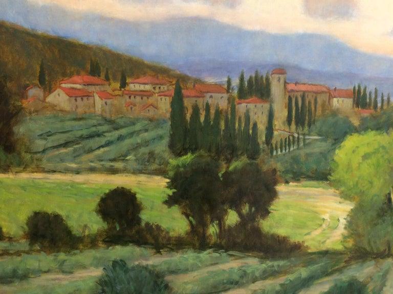 Tuscany, original 36x48 impressionist Italian landscape 3