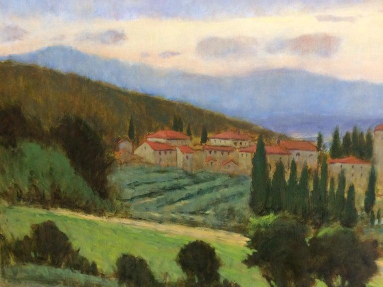 Tuscany, original 36x48 impressionist Italian landscape 4