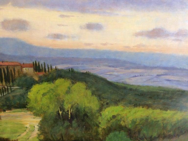 Tuscany, original 36x48 impressionist Italian landscape 5