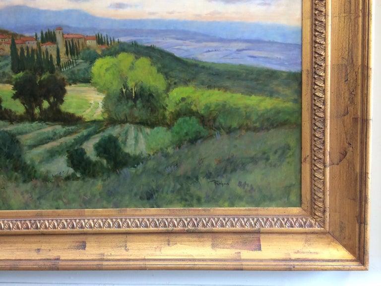 Tuscany, original 36x48 impressionist Italian landscape 6