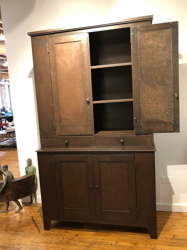 American Jim Rose Legacy Collection - Four Door Two-Drawer Shaker Inspired Steel Cupboard For Sale
