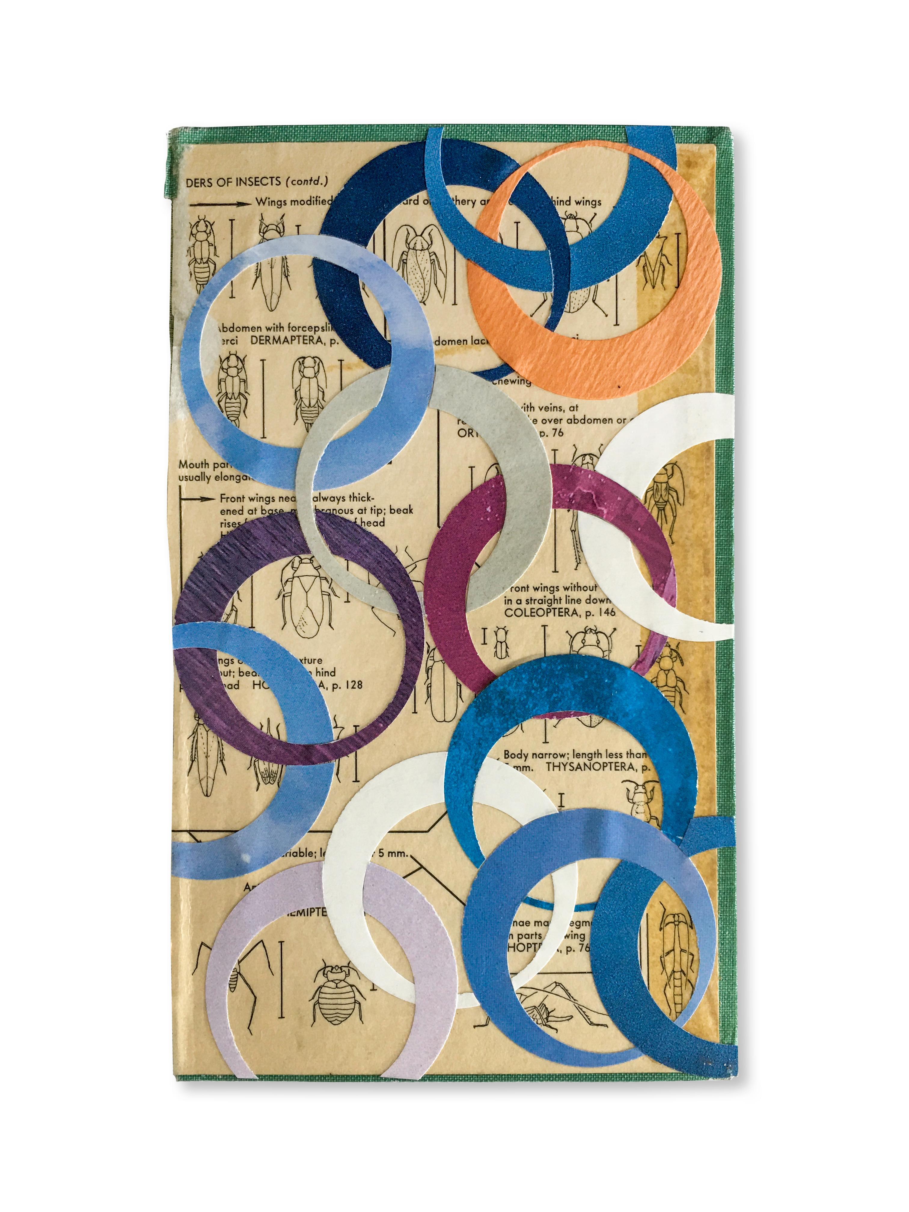 Collage No. 3, Geometric Graphic Collage w/ Found Ephemera, Vintage Material