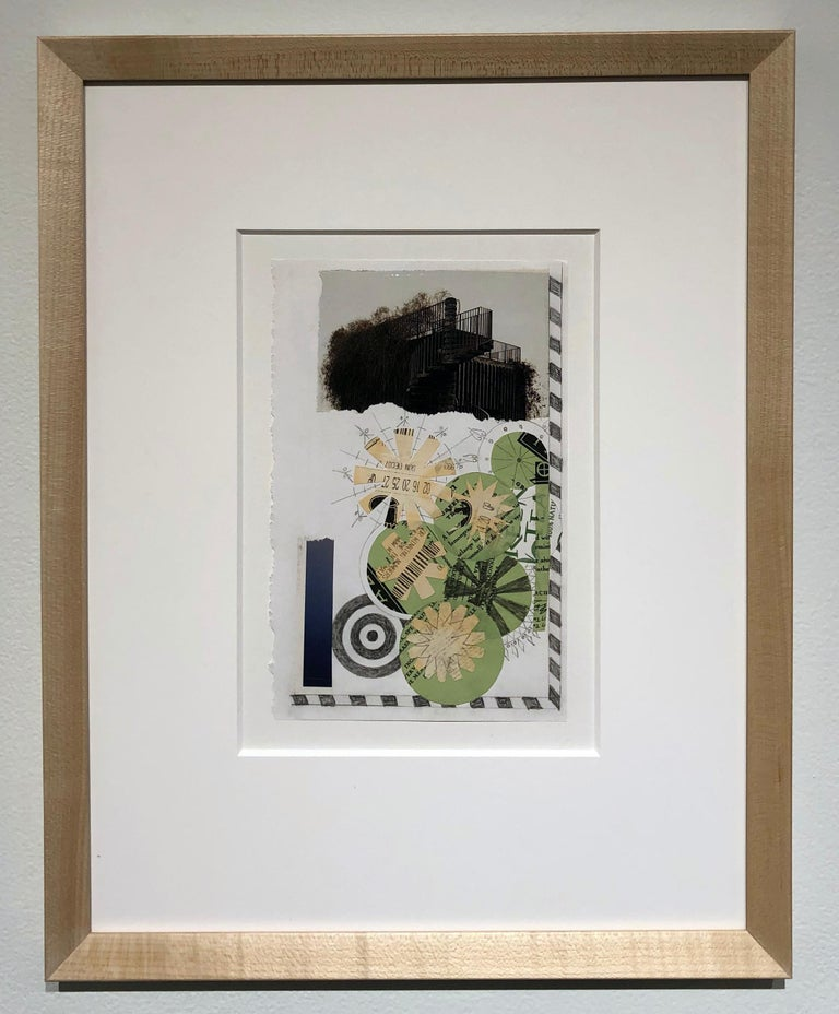 Collage No. 49, Graphic Collage, Vintage Ephemera, Matted, Framed - Contemporary Mixed Media Art by Jim Rose