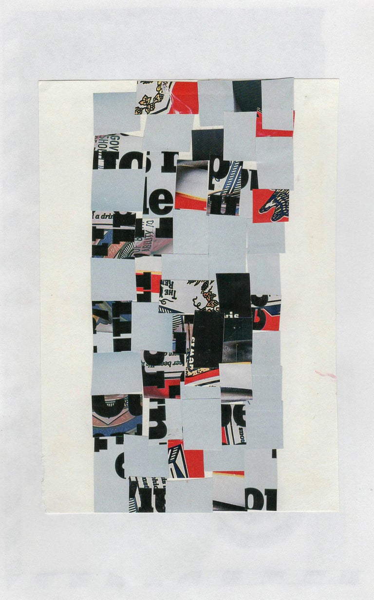 Collage No. 49, Graphic Collage, Vintage Ephemera, Matted, Framed For Sale 4