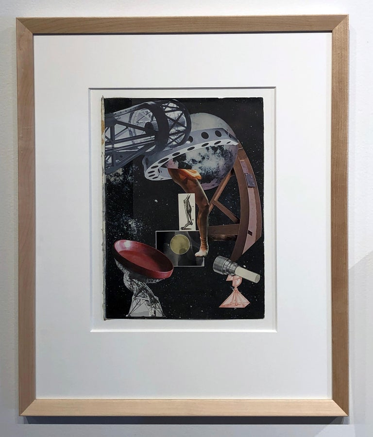 Collage No. 5, Graphic Collage, Vintage Ephemera, Found Paper, Matted, Framed - Contemporary Painting by Jim Rose