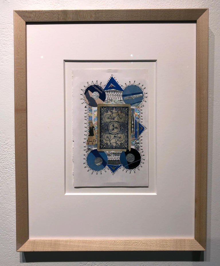 Collage No. 51, Graphic Collage with Vintage Ephemera, Matted and Framed - Contemporary Mixed Media Art by Jim Rose