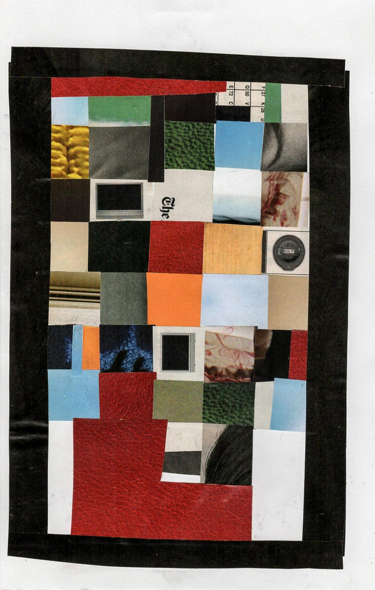 Collage No. 51, Graphic Collage with Vintage Ephemera, Matted and Framed For Sale 5