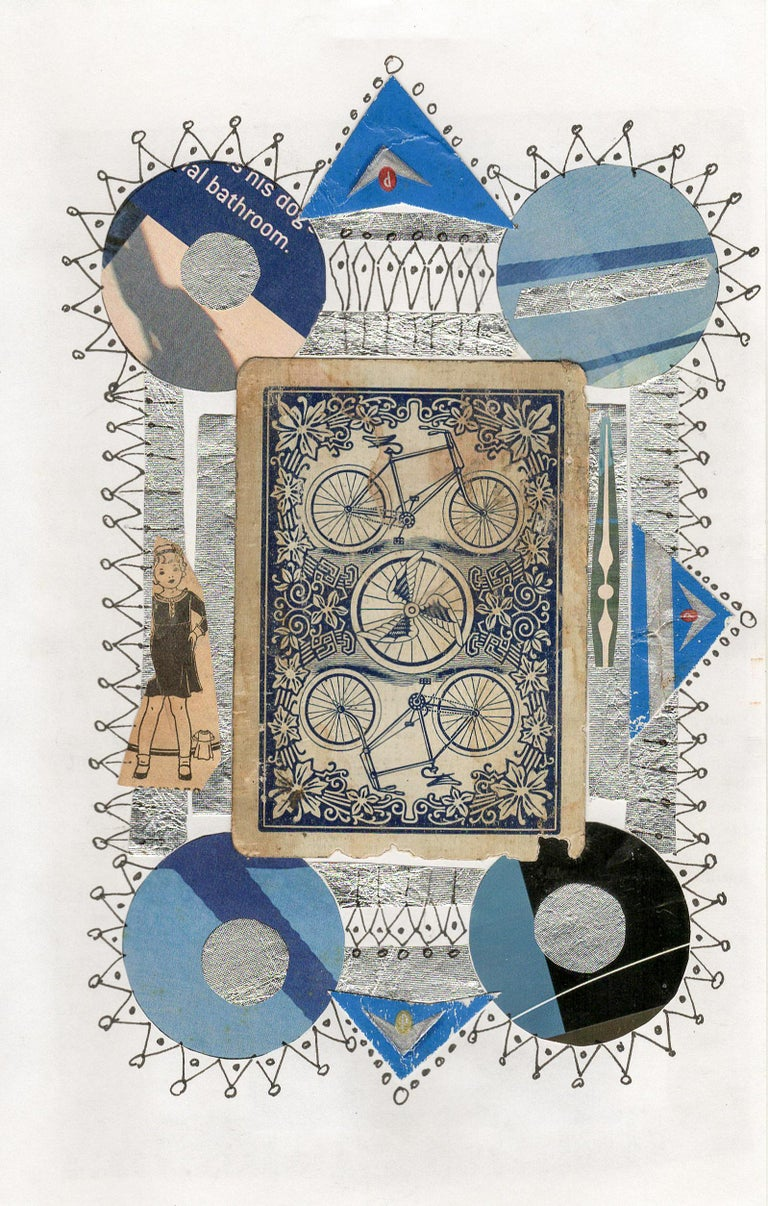 Collage No. 51, Graphic Collage with Vintage Ephemera, Matted and Framed - Mixed Media Art by Jim Rose