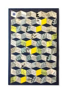 Jim Rose Collage No. 2, Graphic Collage w/ Found Ephemera, Vintage Material