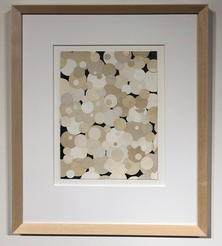 Snowballs on Valentine's Day, Graphic Collage with Paper and Pencil, Framed - Contemporary Mixed Media Art by Jim Rose