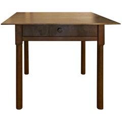 Jim Rose One-Drawer Plank Top Side Table, Functional Art Steel Furniture