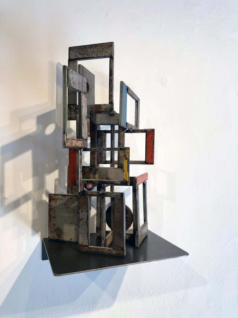 Object 1978, Steel Structure, Welded Sculptural Object Made w/ Salvaged Steel - Contemporary Sculpture by Jim Rose