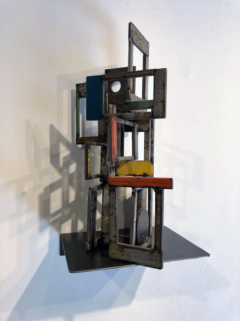 Object 1978, Steel Structure, Welded Sculptural Object Made w/ Salvaged Steel For Sale 1