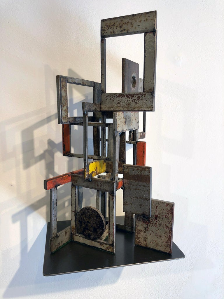 Object 1978, Steel Structure, Welded Sculptural Object Made w/ Salvaged Steel For Sale 2