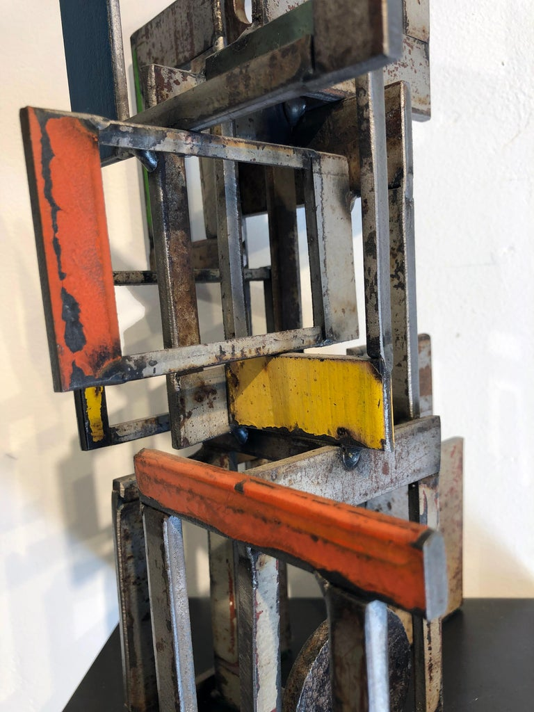 Object 1978, Steel Structure, Welded Sculptural Object Made w/ Salvaged Steel For Sale 3