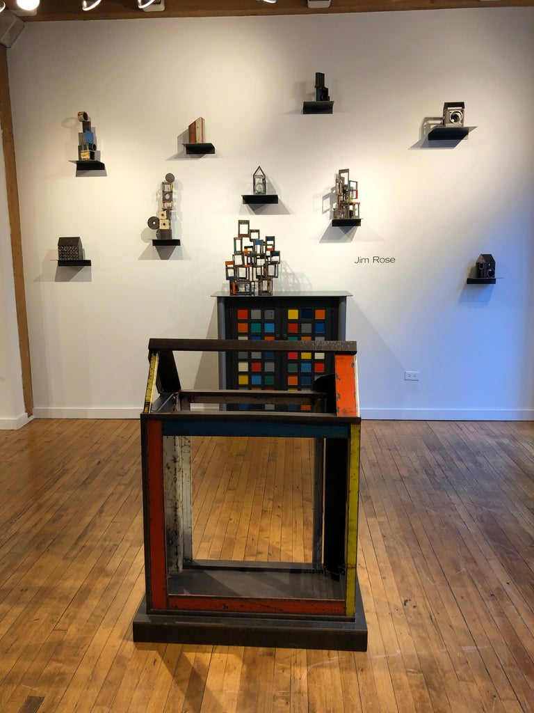 Object 1978, Steel Structure, Welded Sculptural Object Made w/ Salvaged Steel For Sale 4