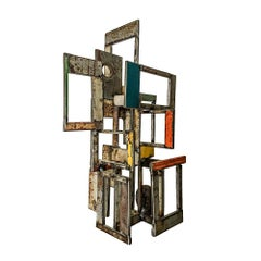 Object 1978, Steel Structure, Welded Sculptural Object Made w/ Salvaged Steel