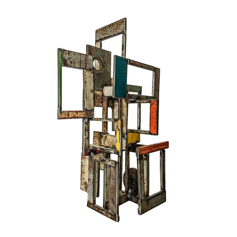 Object 1978, Steel Structure, Welded Sculptural Object Made w/ Salvaged Steel - Sculpture by Jim Rose