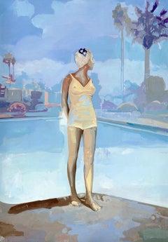 Bathing Cap by Jim Salvati, Realism Oil Painting, 2016