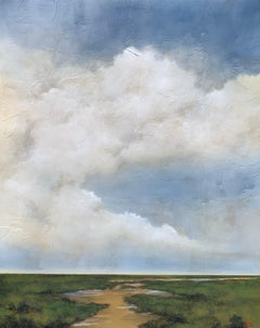 Edge of Day by Jim Seitz, Large Vertical Minimalist Landscape Painting