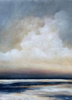 Evening Delight by Jim Seitz 2021, Large Vertical Minimalist Landscape Painting