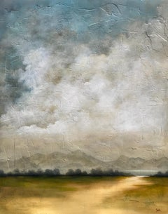 Souls in Motion by Jim Seitz, Large Acrylic and Gold Leaf Landscape Painting