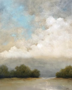 Summer Haze by Jim Seitz, Large Acrylic and Silver Leaf Landscape Painting