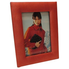 Jim Thompson Tomato Red  Vintage Picture Frame