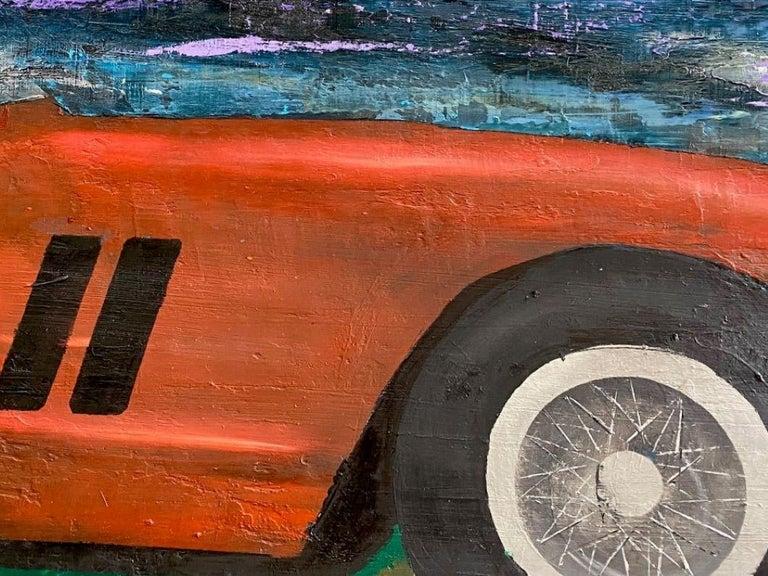 Ferrari GTO 250, original 30x40 contemporary pop art landscape  - Pop Art Painting by Jim Twerell